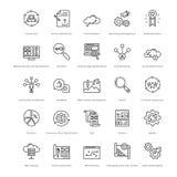 Web y SEO Line Vector Icons 15 Foto de archivo libre de regalías