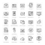 Web y SEO Line Vector Icons 3 Fotos de archivo