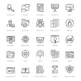 Web y SEO Line Vector Icons 19 Fotos de archivo