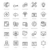 Web y SEO Line Vector Icons 17 Foto de archivo libre de regalías