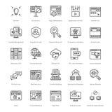 Web y SEO Line Vector Icons 35 Foto de archivo