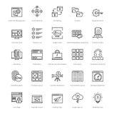Web y SEO Line Vector Icons 33 Imagen de archivo libre de regalías