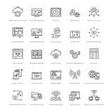 Web y SEO Line Vector Icons 31 Fotos de archivo libres de regalías