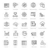 Web y SEO Line Vector Icons 26 Imágenes de archivo libres de regalías