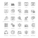 Web y SEO Line Vector Icons 12 Foto de archivo libre de regalías