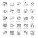Web y SEO Line Vector Icons 41 Imágenes de archivo libres de regalías