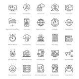 Web y SEO Line Vector Icons 29 Imagen de archivo libre de regalías