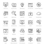 Web y SEO Line Vector Icons 39 Fotografía de archivo libre de regalías
