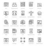 Web y SEO Line Vector Icons 38 Imagen de archivo