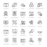 Web y SEO Line Vector Icons 22 Foto de archivo libre de regalías
