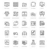 Web y SEO Line Vector Icons 44 Fotografía de archivo libre de regalías