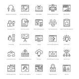 Web y SEO Line Vector Icons 37 Fotos de archivo libres de regalías