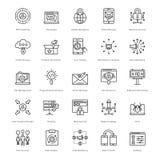 Web y SEO Line Vector Icons 55 Foto de archivo