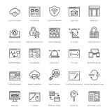Web y SEO Line Vector Icons 36 Imagen de archivo