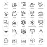 Web y SEO Line Vector Icons 48 Foto de archivo libre de regalías