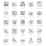 Web y SEO Line Vector Icons 42 Fotos de archivo libres de regalías