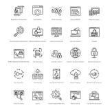Web y SEO Line Vector Icons 34 Fotografía de archivo