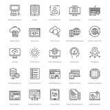 Web y SEO Line Vector Icons 27 Imagenes de archivo
