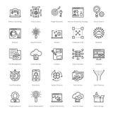 Web y SEO Line Vector Icons 52 Fotos de archivo