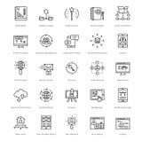 Web y SEO Line Vector Icons 43 Imagen de archivo libre de regalías