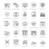Web y SEO Line Vector Icons 47 Fotografía de archivo libre de regalías