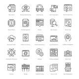 Web y SEO Line Vector Icons 53 Foto de archivo