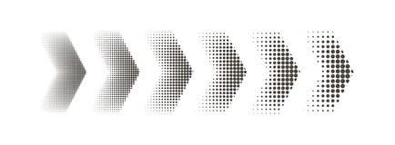 Web zwei Abstrakter Pfeil Pfeil auf einem lokalisierten weißen Hintergrund Auch im corel abgehobenen Betrag stock abbildung