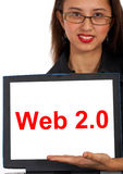 Web2 Computer Message Showing Social Media Royalty Free Stock Photos