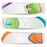 Web2 vector banner set. Modern Web2 vector banner set Royalty Free Stock Image