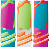 Web2 vector vertical banner set. Web2 color vector vertical banner set Stock Photo