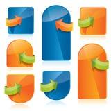 Web2 Website Template Elements Stock Photos