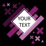 WebAbstract Zwarte Purpere Achtergrond, Vectorillustratieruimte voor tekst Stock Foto