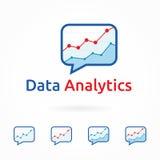 Webanalytics, bedrijfs marketing embleemmalplaatje Royalty-vrije Stock Afbeeldingen