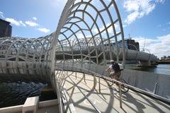 Webb Brücke, Melbourne Stockfotos