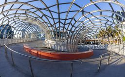 Webb Bridge in Docklands, Melbourne. Melbourne, Australia - May 18, 2015: View of Webb Bridge in Docklands, Melbourne. Webb Bridge is a specially designed bridge Royalty Free Stock Photography