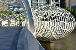 Webb Bridge - Melbourne Arkivbild