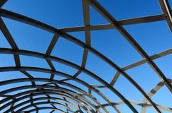 Webb Bridge - Melbourne. Detail of metal lattice work on Webb Bridge against blue sky in Melbourne, Australia Royalty Free Stock Image