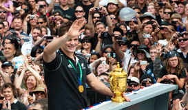 Webb-Ellis Cup Richie McCaw All Blacks Captain Royalty Free Stock Images