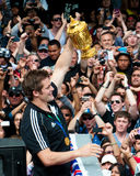 Webb-Ellis Cup Richie McCaw aller Schwarz-Kapitän Lizenzfreies Stockbild