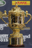 Webb Ellis Cup. The Webb Ellis Cup, the trophy awarded to the winner of the Rugby World Cup, the premier competition in men's international rugby union. The Cup Stock Photo