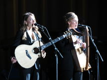 Webb Sisters backing Leonard Cohen, Lucca 2013 Royalty Free Stock Photo