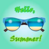 Webbanner voor de zomerverkoop, kaart, affiche of advertenties Stock Afbeeldingen