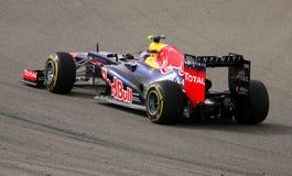 Webber de Red Bull competir con-Renault, 20 de abril de 2012 Imagen de archivo