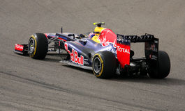 Webber van Red Bull rennen-Renault, 20 April 2012 Stock Afbeelding