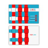Webbing business card. Simple design business card for personal use or your business Stock Photo