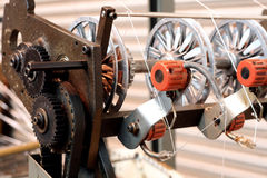 Webbing machine wheel Stock Photo