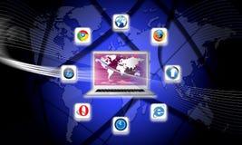 webbläsarenätverk s i dag vad som är din royaltyfri illustrationer