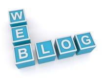 Webblog Stock Foto