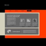 Webbplatsdesign royaltyfri illustrationer