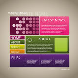 Webbplatsdesignmall Royaltyfri Foto